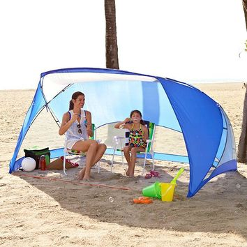 Beach Canopy Cabana Shade Tent 9' x 6' Portable UV SPF 50 Camping Fishing Picnic
