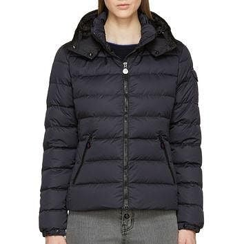 Moncler Black Matte Nylon Down Quilted Bady Jacket