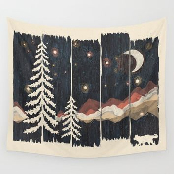 A Starry Night in the Mountains... Wall Tapestry by NDTank