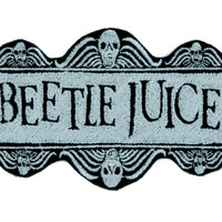 Beetlejuice Patch Iron on Applique Dark Alternative Gothic Clothing Betelgeuse