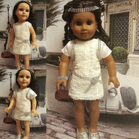 "18 inch doll clothes ""Modern Day Gatsby"" will fit American Girl doll outfit dressy ensemble sequined dress satin bolero trim R4"