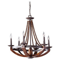 Feiss Adan 6-Lt Single Tier Chandelier - F27496RIBWD