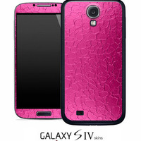 Stamped Pink Print Skin for the Samsung Galaxy S4, S3, S2, Galaxy Note 1 or 2