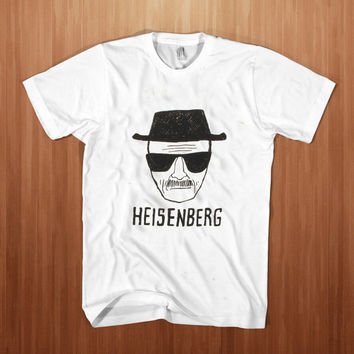 Heisenberg shirt men t-shirt Heisenberg sketch tv show tee meth cook walter breaking white