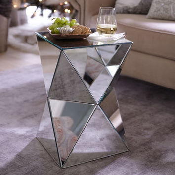 Miera Diamond Mirrored Accent Table