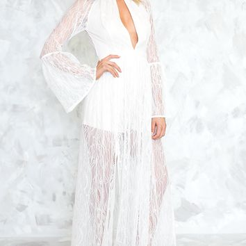 ENDLESS LOVE BELL SLEEVE MAXI - WHITE