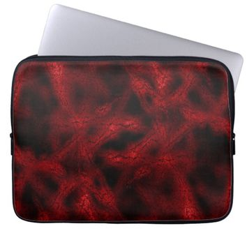 Red virus pattern laptop sleeve