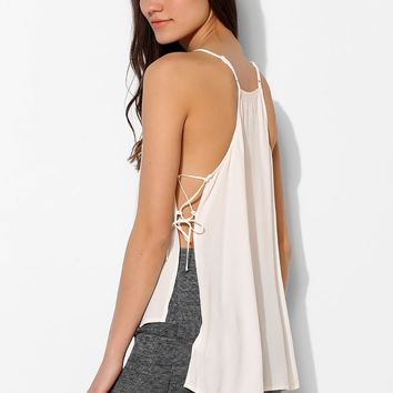 Silence + Noise Lace-Up Side Cami - Urban Outfitters