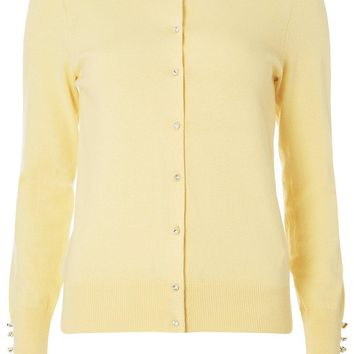Lemon Cotton Cardigan | Dorothyperkins