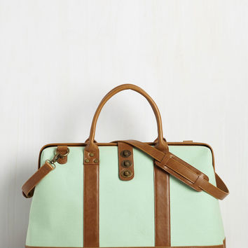 Revivals and Departures Weekend Bag in Mint | Mod Retro Vintage Bags | ModCloth.com