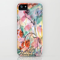 The Earth Laughs In Flowers iPhone & iPod Case by Misty Diller of Misty Michelle Design
