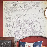 HARRY POTTER™ Hogwarts™ Map Canvas Art