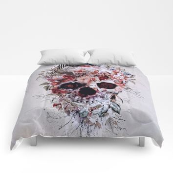 Floral Skull RPE Comforters by RIZA PEKER