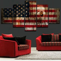 Canvas Picture For Modern Bedroom Wall Art Print Poster Framework 5 Piece Retro United States Of America Paintings Home Decor