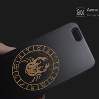 Real Luxury Wood Zodiac Pattern Design Smartphone Case For iPhone - Free Shipping
