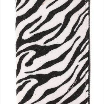 Fame Accessories Zebra Print Wallet
