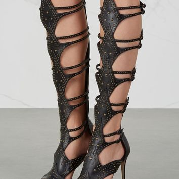 Paul Andrew Leila studded leather gladiator sandals