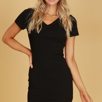 Classic Everyday Dress Black