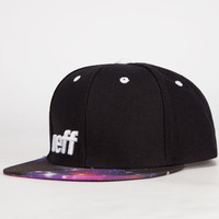Neff Daily Space Mens Snapback Hat Black One Size For Men 24102410001