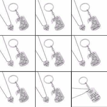 """There Is This Girl She Stole My Heart She Calls Me DADDY/MOMMY/MOM/GRANDMA/GRANDPA"" Heart Necklaces Keychain"