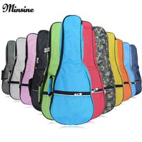 Colorful Waterproof Soprano Concert Ukulele Bag Case Backpack 21 23 26 Inch Ukelele Beige Mini Guitar Accessories Parts Gig