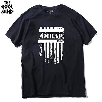 Amrap This Crossfit Casual O Neck Men Tops Short Sleeve