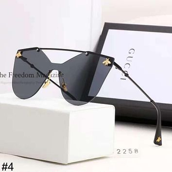 GUCCI 2018 new bee couple models large frame color film polarized sunglasses #4