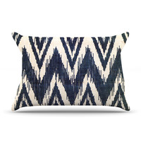 "Heidi Jennings ""Tribal Chevron Black"" Pillow Case"