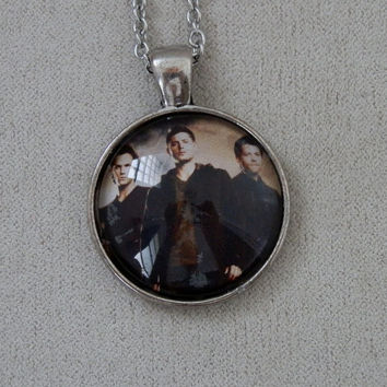 Necklace, Supernatural, Sam, Dean, Castiel, Angel, Hunters, Glass Dome, Pendant
