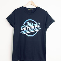 Women's The Strokes Black Retro Tee
