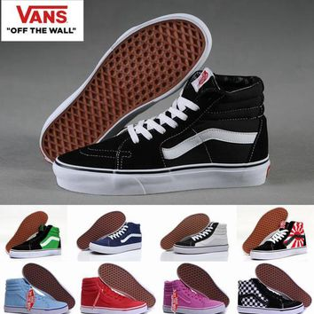 4597d9ffa3d5e2 High Top Old Skool vans Canvas Shoes Sk8 Hi Classic White Black