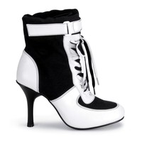 Sexy sports referee women's canvas costume boots UpscaleStripper.com