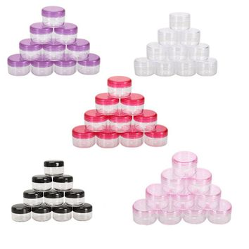 10PCS Cosmetics Jar Box Makeup Cream Nail Art Cosmetic Bead Stor  sc 1 st  wanelo.co & Best Plastic Round Container Products on Wanelo