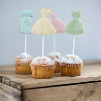 Be my bridesmaid cake toppers