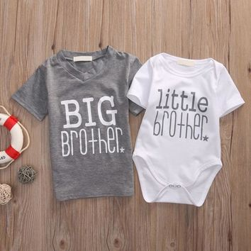 Big Brother Little Brother Infant Baby T-Shirt And Onesuit Bodysuit