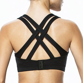 High Impact Criss Cross Back Plus Size Running Sports Bra Top Only