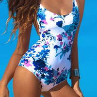 Cupshe Seaside Soiree Floral Lace Up Swimsuit