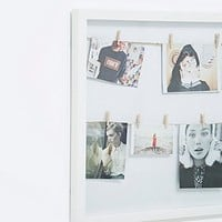 Clip Line Photo Frame in White - Urban Outfitters