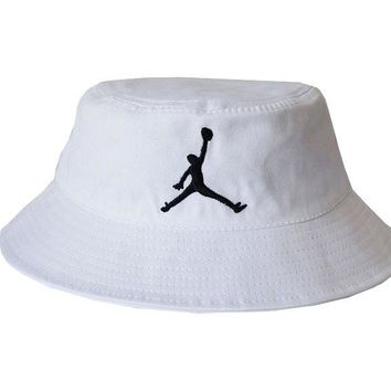 Perfect Jordan Women Men Embroidery Sun Visor Bucket Hat Fashion Hat Cap