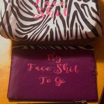 Funny cosmetic bag - curse word gift - zebra makeup bag - funny makeup bag - funny Christmas gift for her