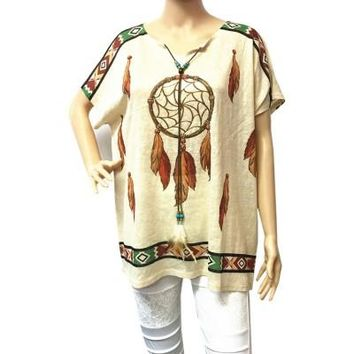 Women's Dream Catcher Printed Top