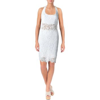 Lauren Ralph Lauren Womens Lace Halter Casual Dress