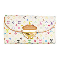 LOUIS VUITTON Multi-Colored EUGENIE Pushlock Wallet Rt. $1,000