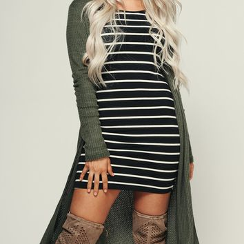 Have It Your Way Cardigan (Olive)