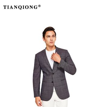 TIAN QIONG High Quality Jacket Dark Purple 2018 Tailor Made Suit Jacket Slim Fit Blazers for Men Wedding Dress Mens Two Buttons