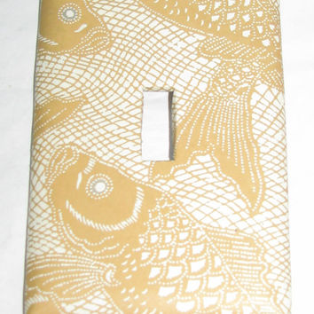 Light Switch Cover - Light Switch Plate Fish Gold