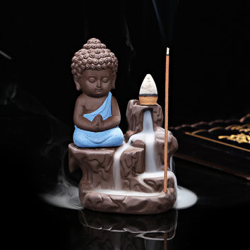The Little Monk Waterfall Incense Burner