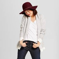 Women's Textured Open Layering Cardigan - A New Day™ Gray/Cream