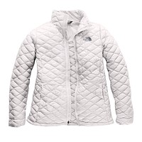 Women's Thermoball Jacket in Tin Grey / Kelpie Green by The North Face