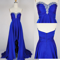 Charming Sweetheart Chiffon Asymmetric Prom Dress/Homecoming Dress
